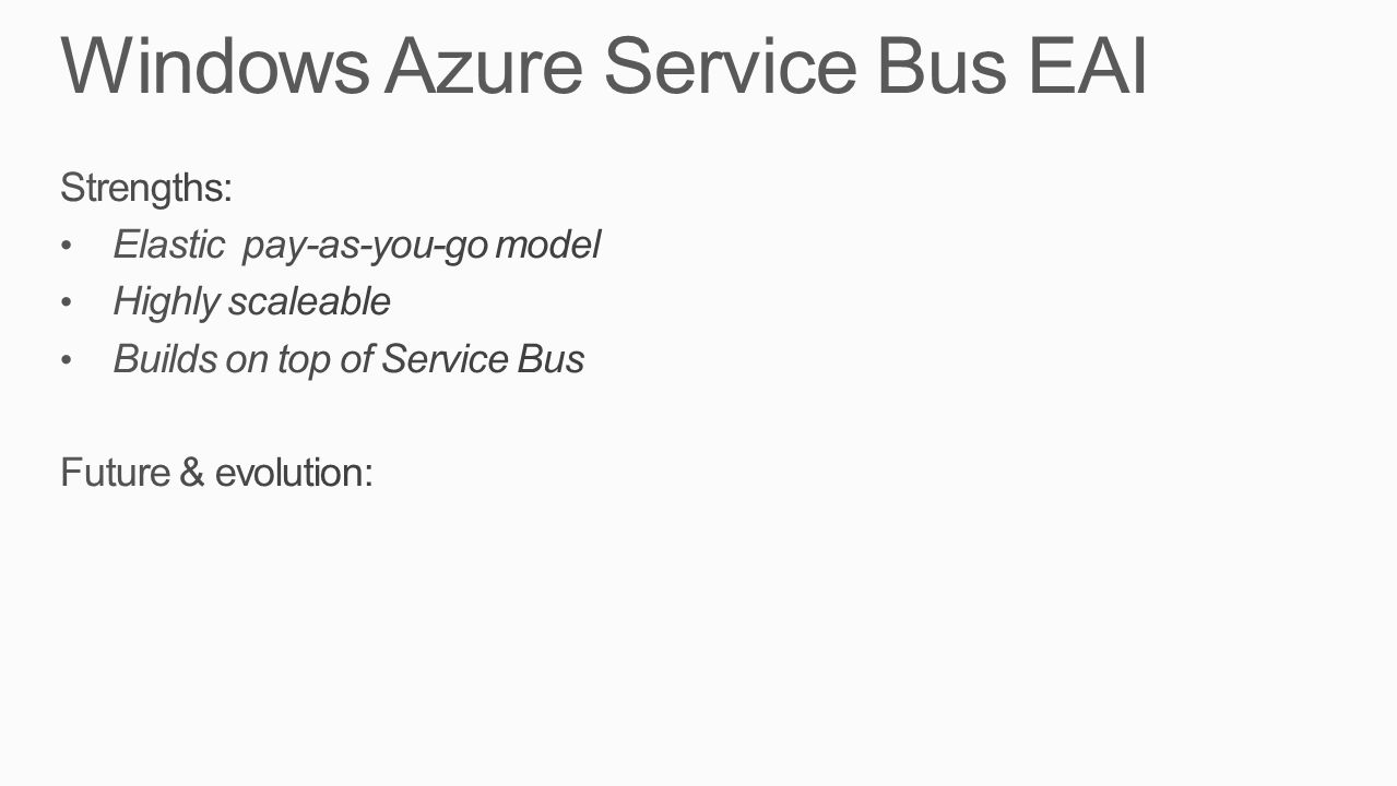 Windows Azure Service Bus EAI