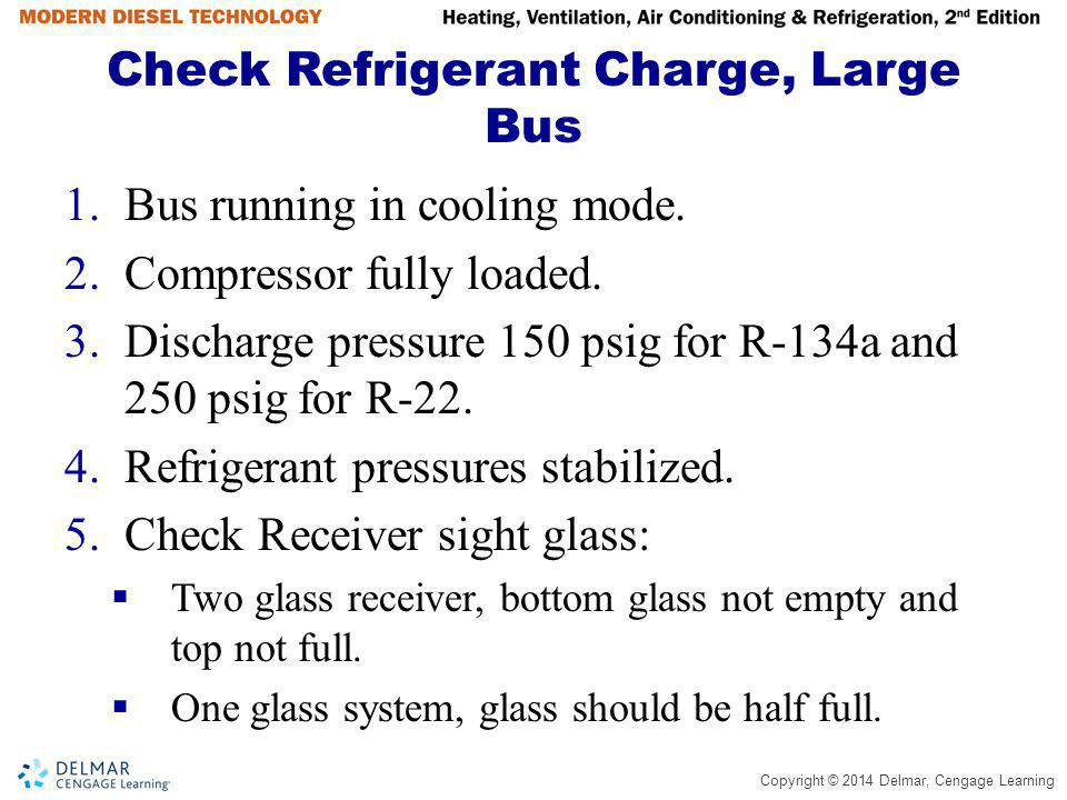 Check Refrigerant Charge, Large Bus