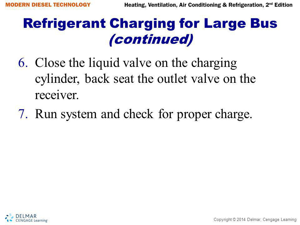 Refrigerant Charging for Large Bus (continued)