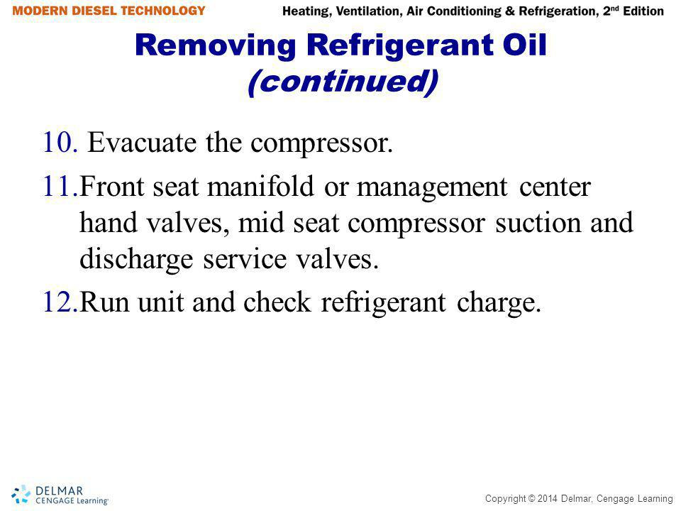 Removing Refrigerant Oil (continued)