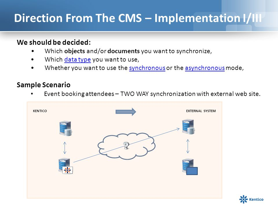 Direction From The CMS – Implementation I/III