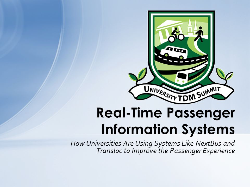 Real-Time Passenger Information Systems