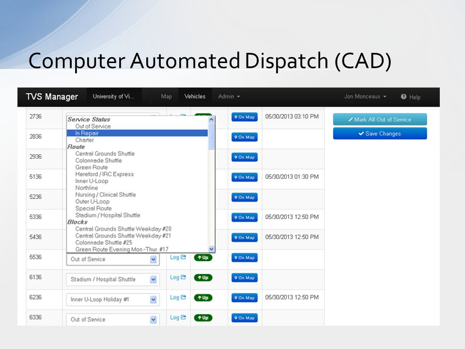 Computer Automated Dispatch (CAD)
