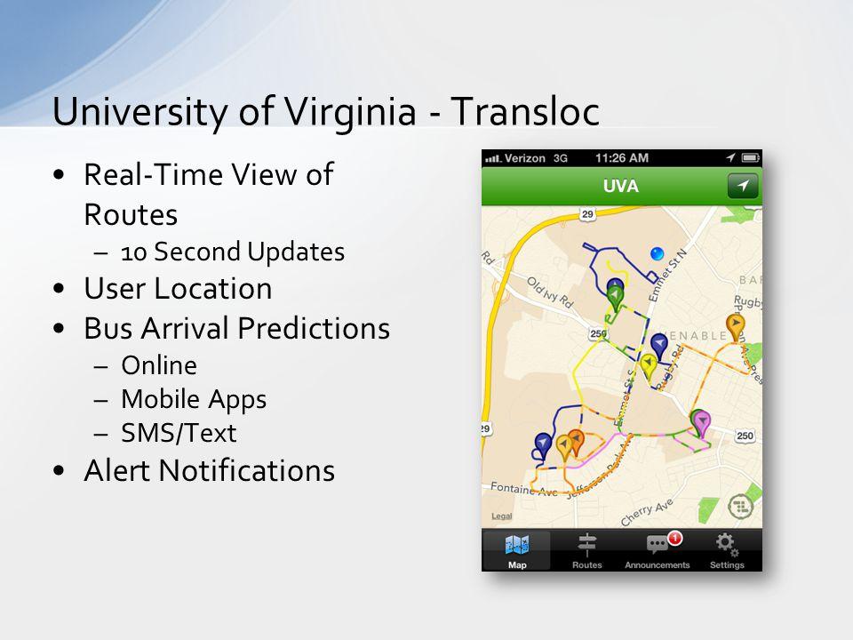 University of Virginia - Transloc