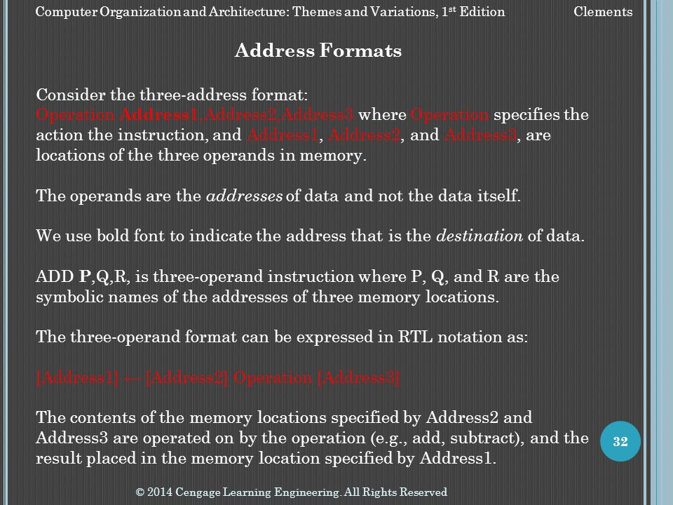 Address Formats