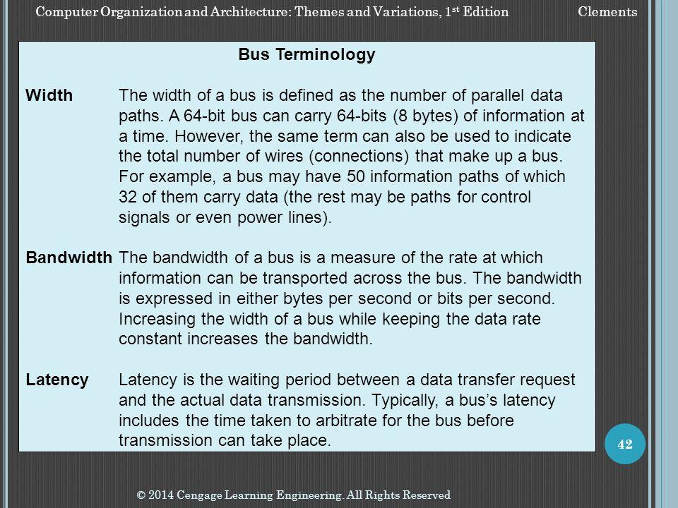 Bus Terminology