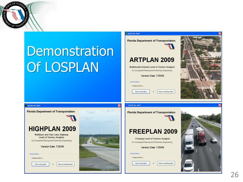 Demonstration Of LOSPLAN