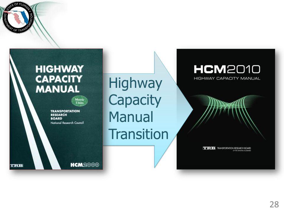 Highway Capacity Manual Transition