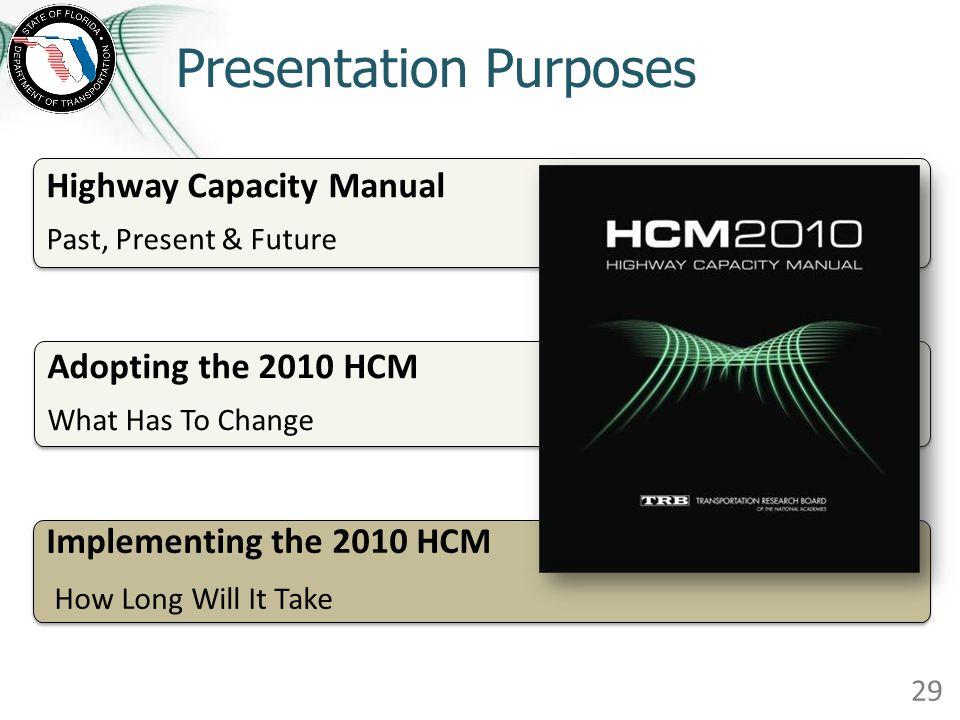 Presentation Purposes