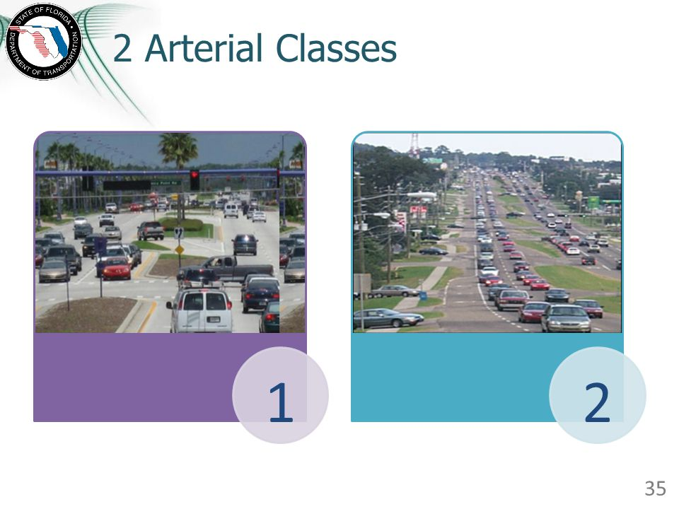2 Arterial Classes The 2010 HCM will not differentiate arterials based on signal density.