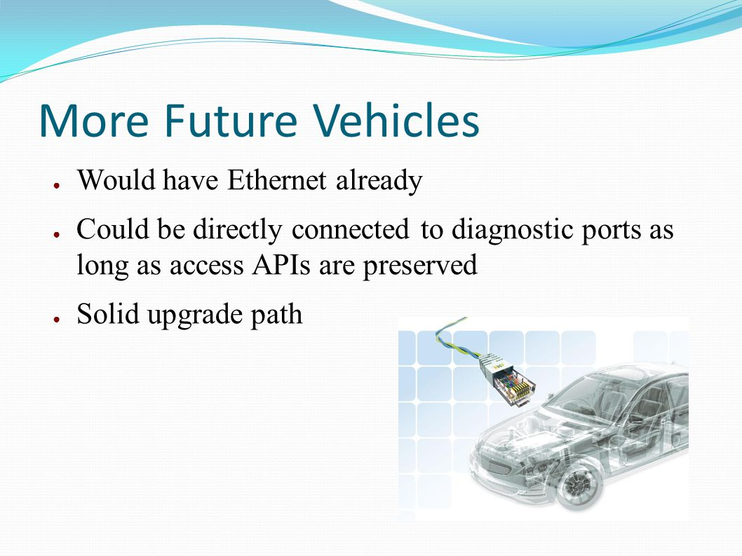 More Future Vehicles Would have Ethernet already