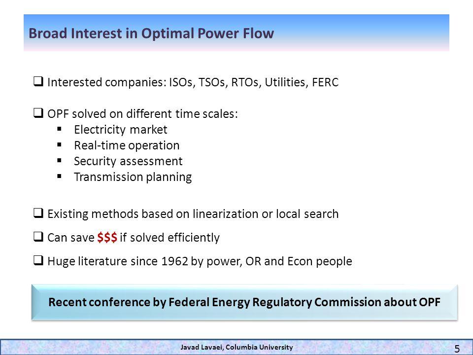 Broad Interest in Optimal Power Flow