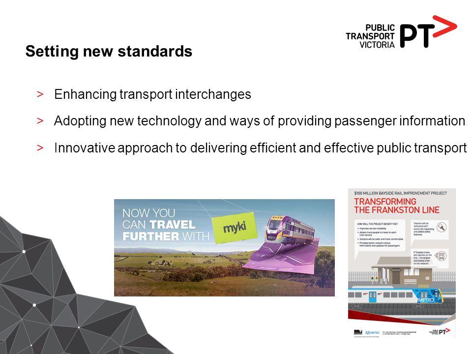 Setting new standards Enhancing transport interchanges