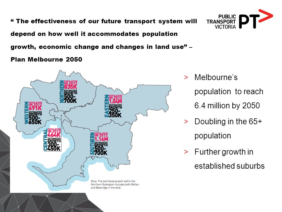 Melbourne's population to reach 6.4 million by 2050