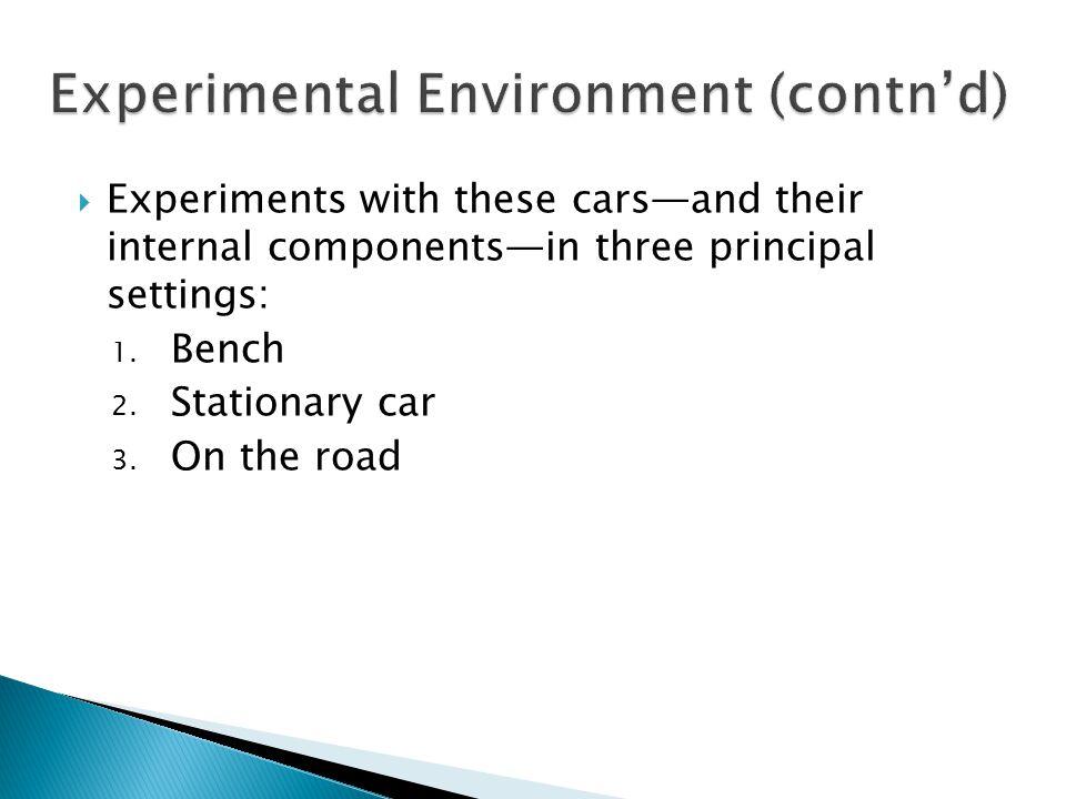 Experimental Environment (contn'd)