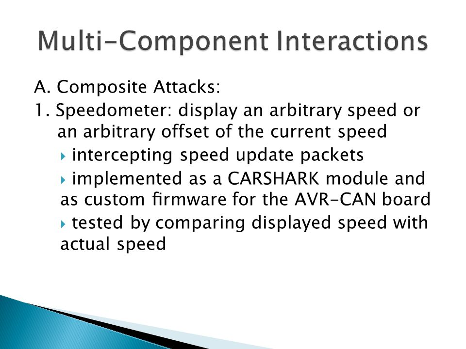 Multi-Component Interactions