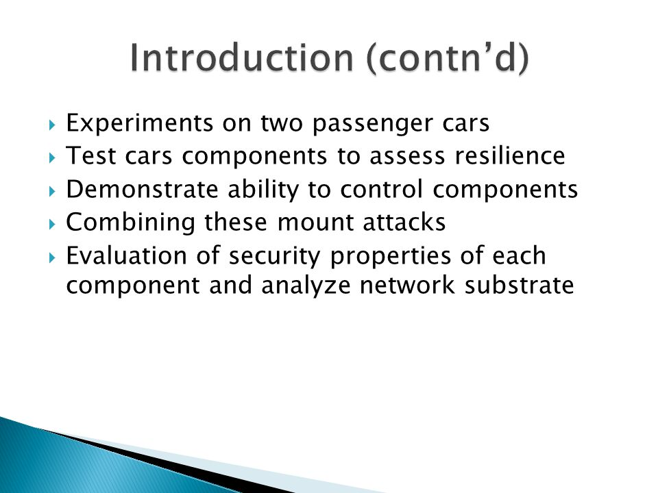Introduction (contn'd)