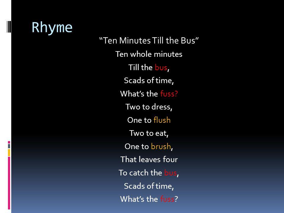Ten Minutes Till the Bus