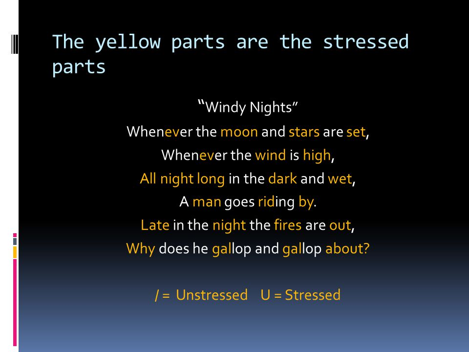 The yellow parts are the stressed parts
