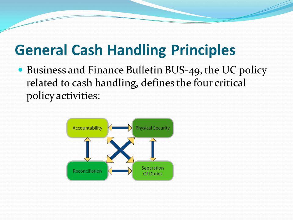 General Cash Handling Principles