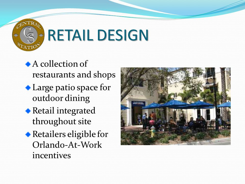 RETAIL DESIGN A collection of restaurants and shops