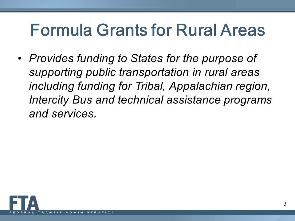Formula Grants for Rural Areas