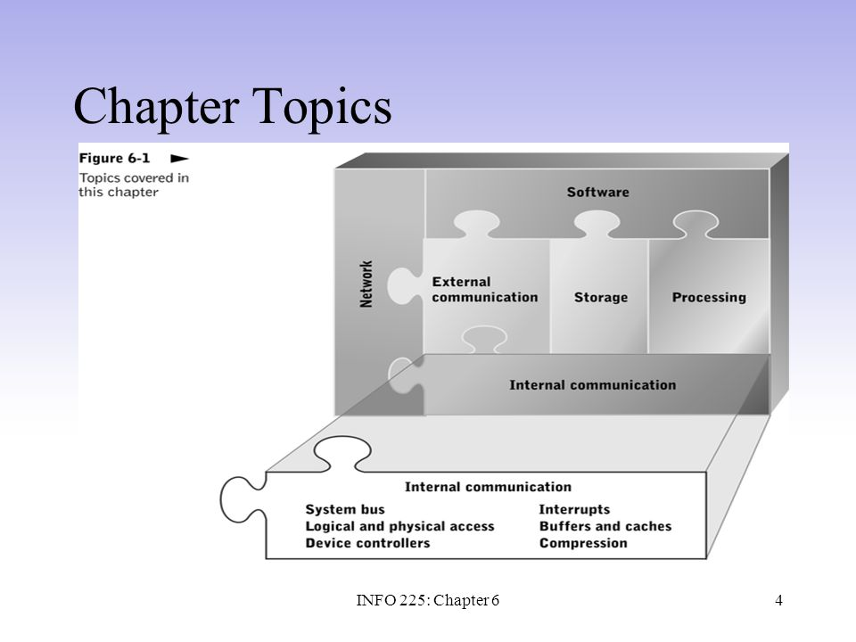 Chapter Topics INFO 225: Chapter 6