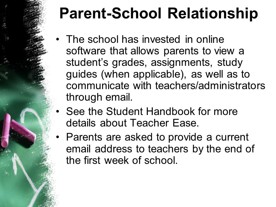 parent and school relationship