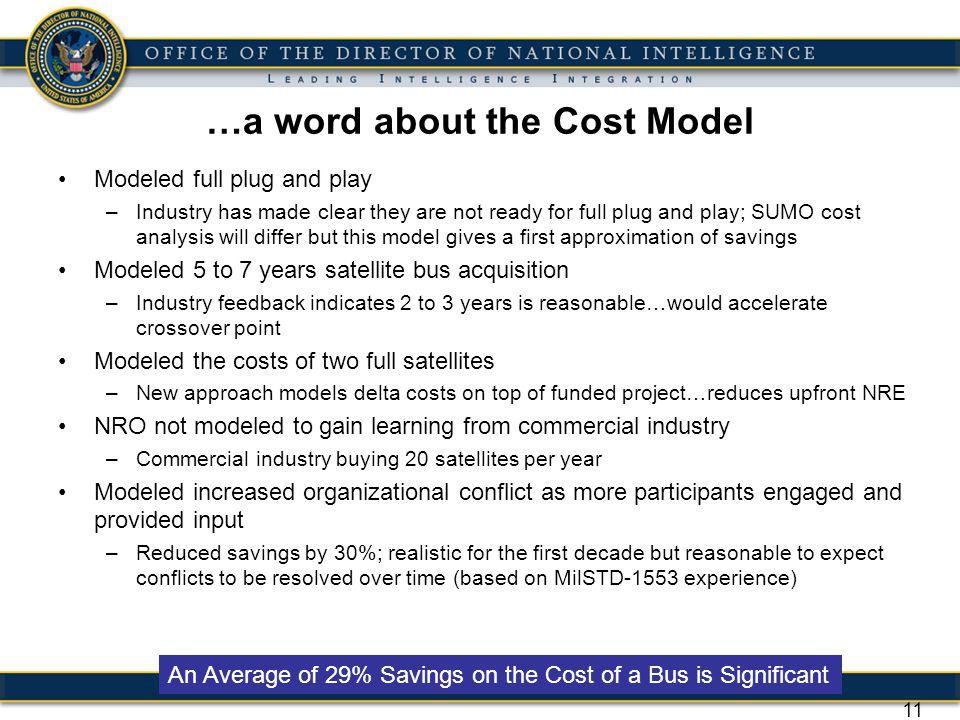 …a word about the Cost Model