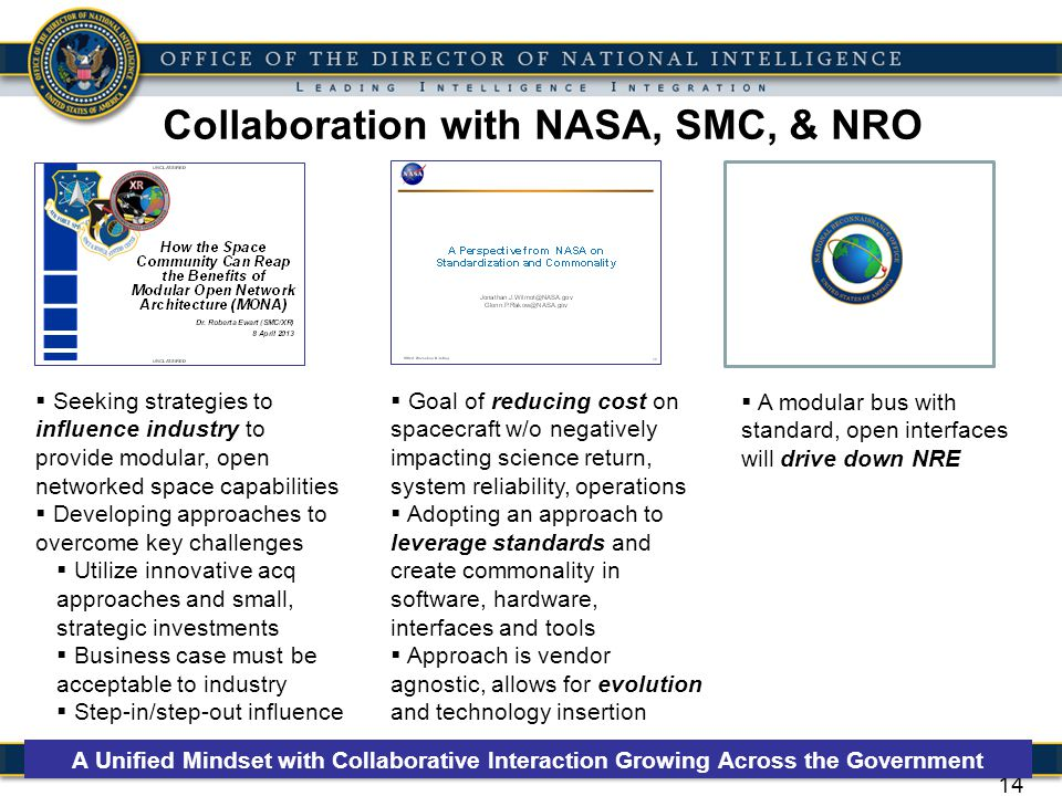 Collaboration with NASA, SMC, & NRO