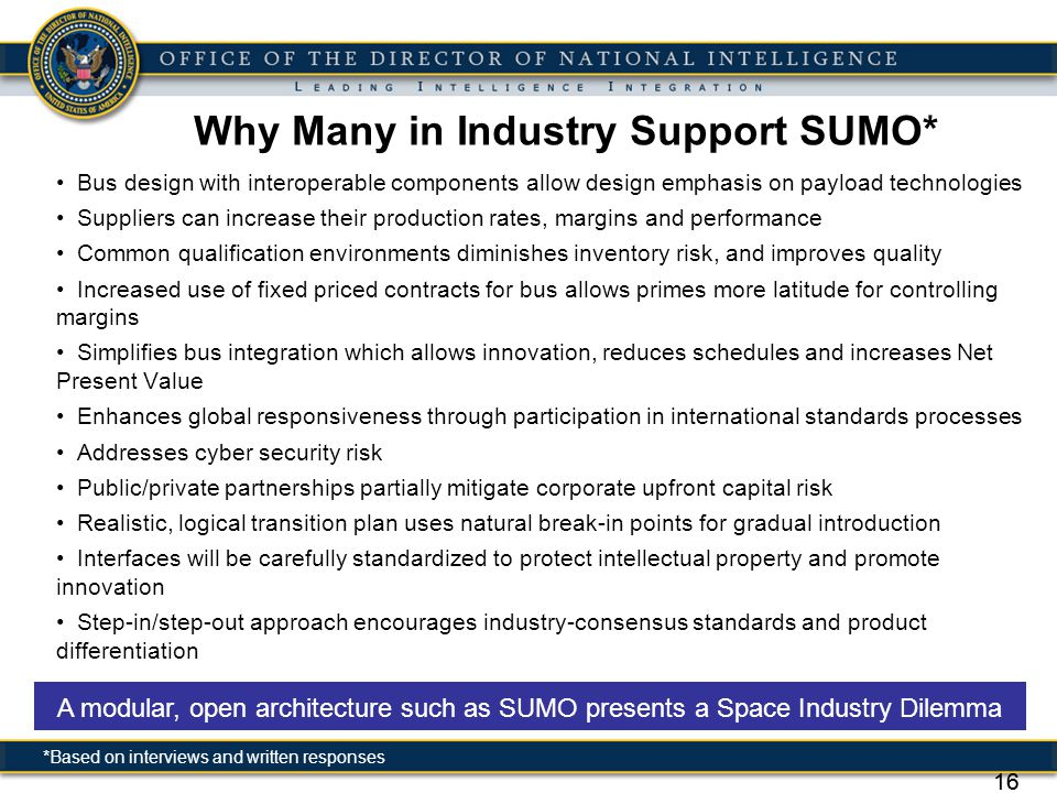 Why Many in Industry Support SUMO*