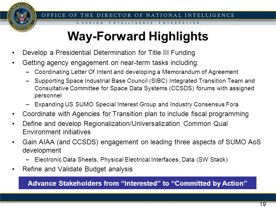 Way-Forward Highlights