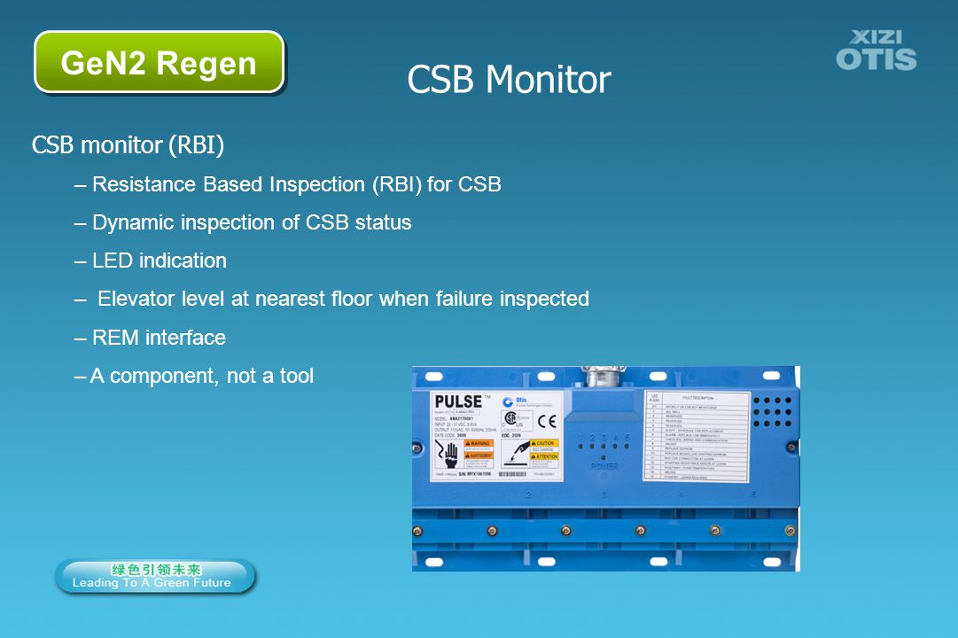 CSB Monitor GeN2 Regen CSB monitor (RBI)