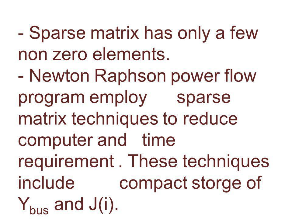 6.8 SPARSITY TECHNIQUES - Sparse matrix has only a few non zero elements.