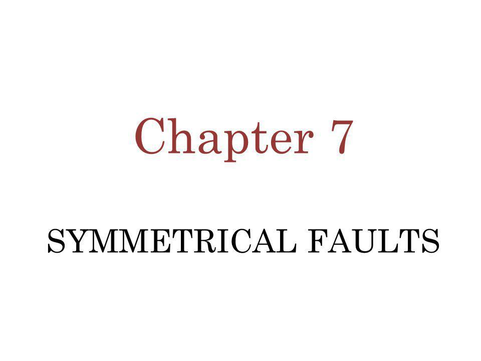 Chapter 7 SYMMETRICAL FAULTS
