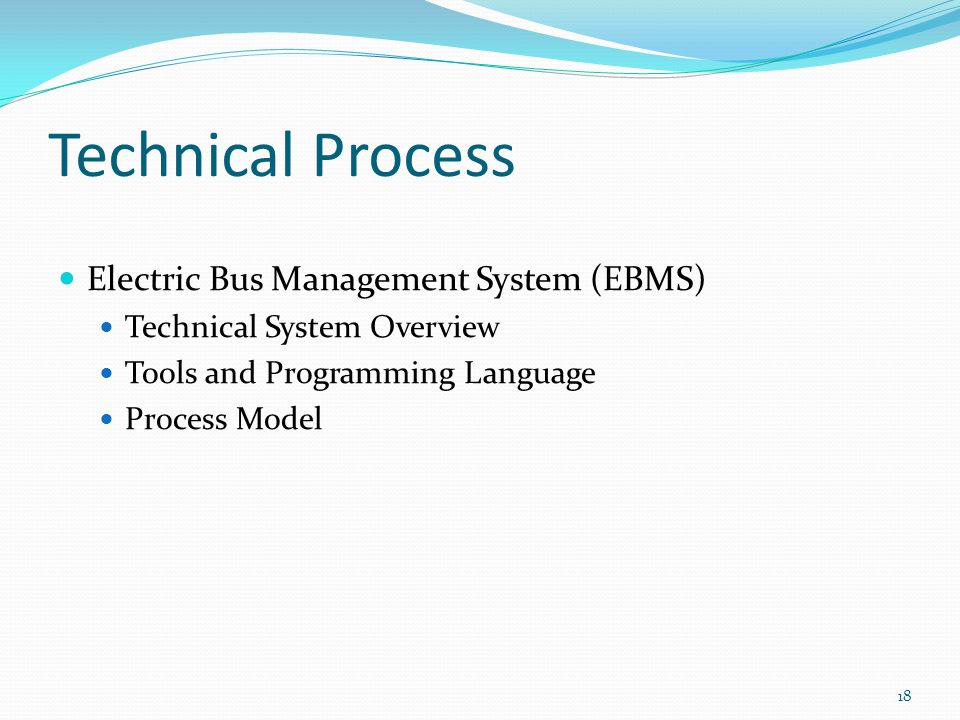 Technical Process Electric Bus Management System (EBMS)