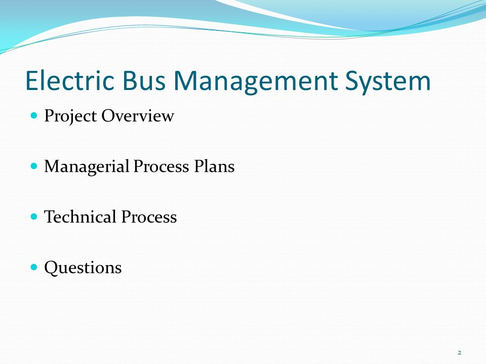 Electric Bus Management System