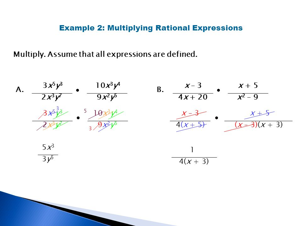 Example 2: Multiplying Rational Expressions