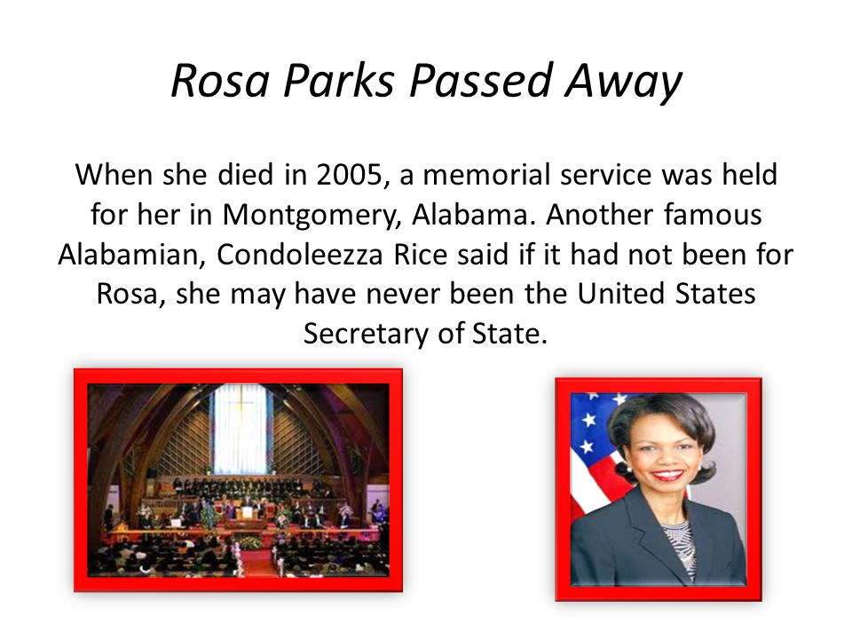 Rosa Parks Passed Away