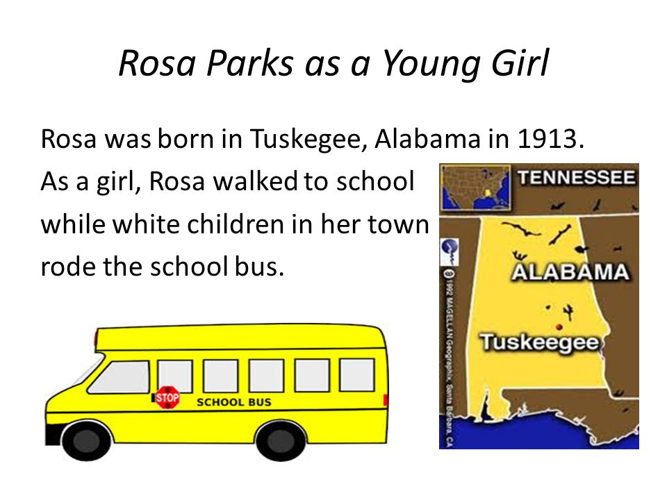 Rosa Parks as a Young Girl