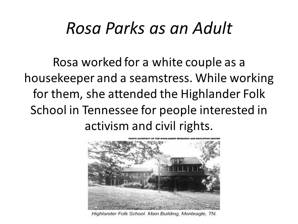 Rosa Parks as an Adult