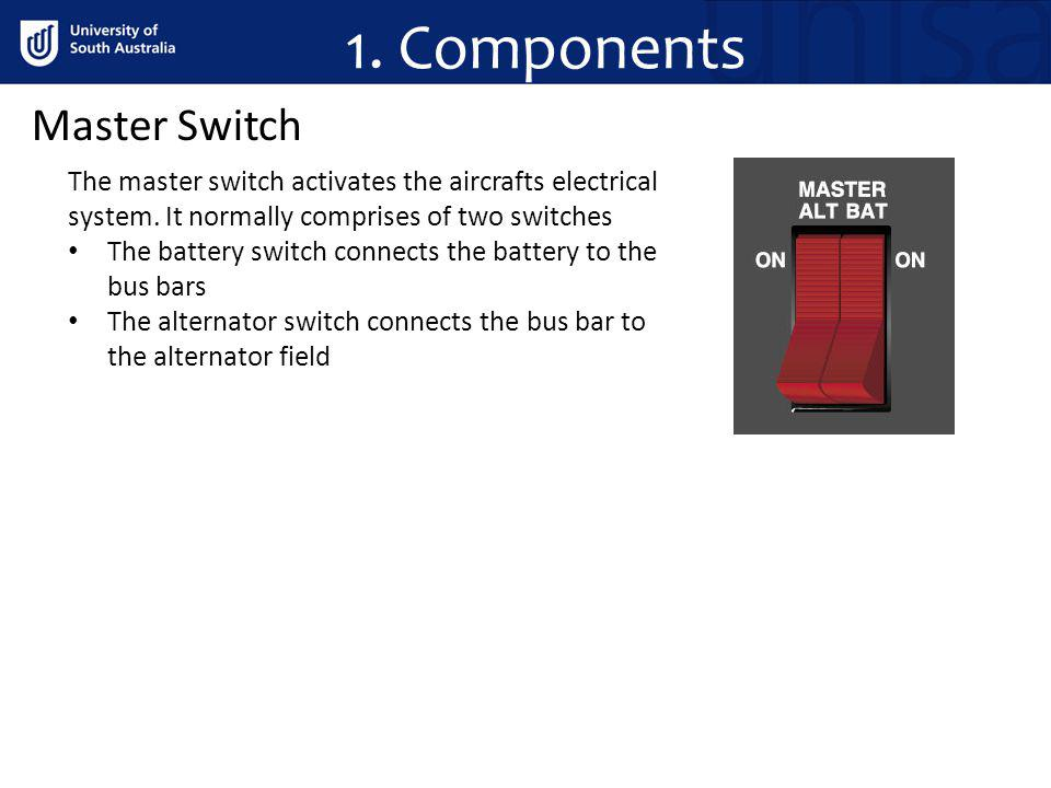 1. Components Master Switch