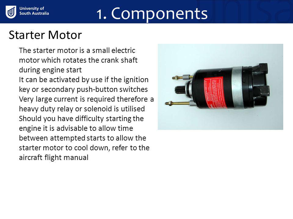 1. Components Starter Motor