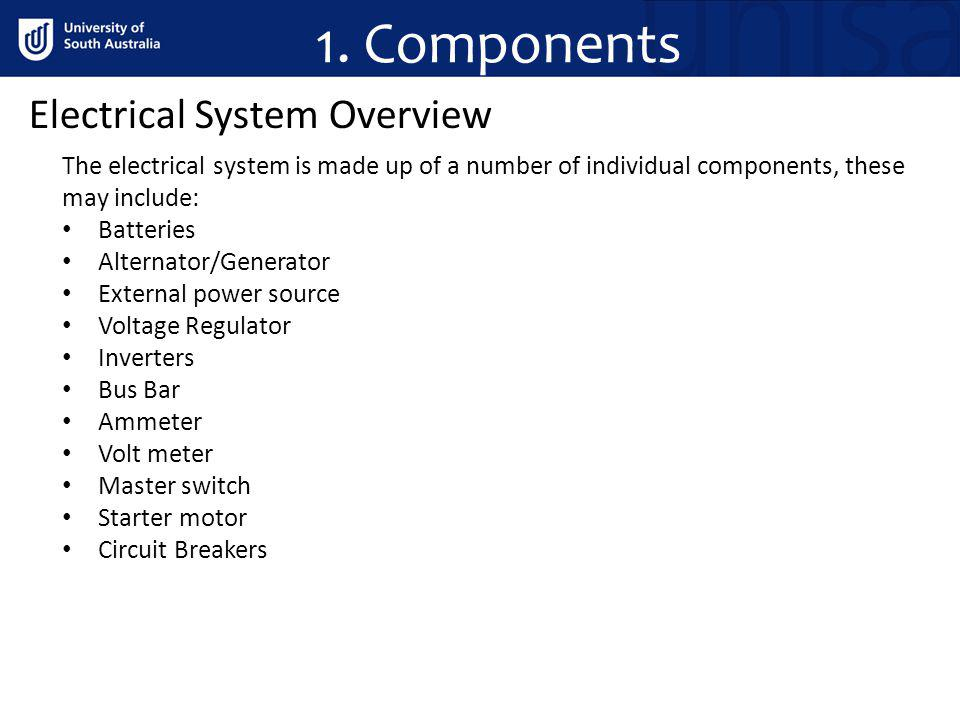 1. Components Electrical System Overview