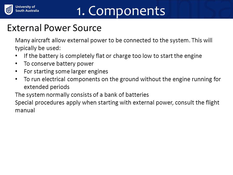 1. Components External Power Source