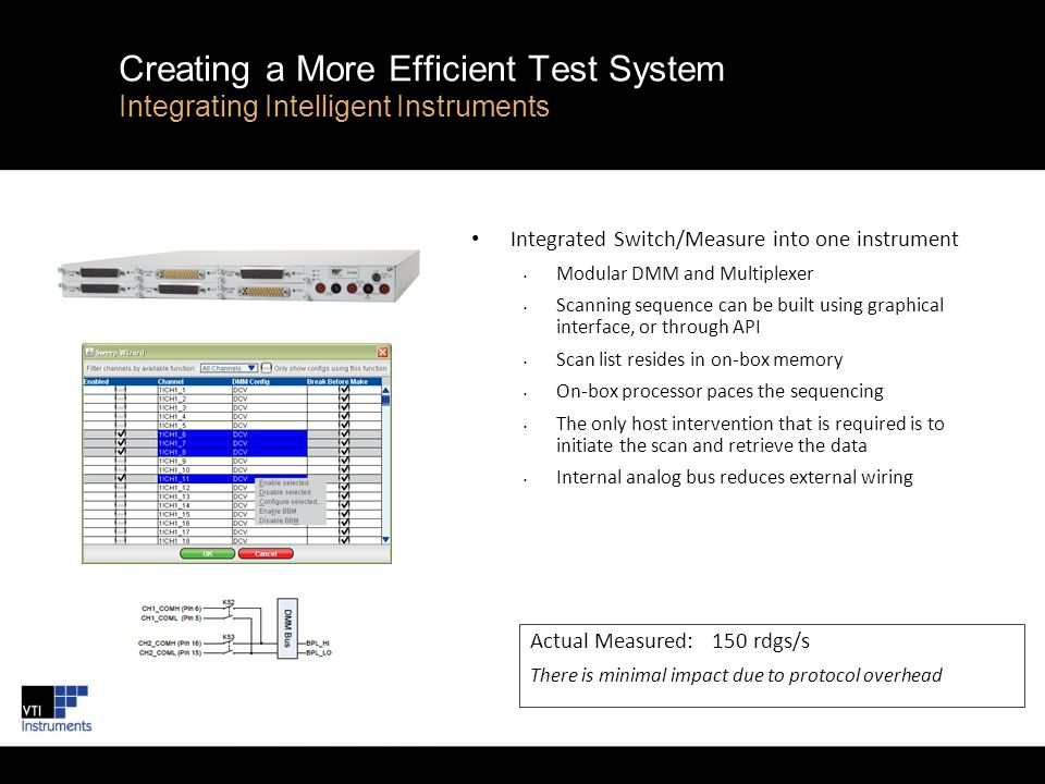 Creating a More Efficient Test System Integrating Intelligent Instruments