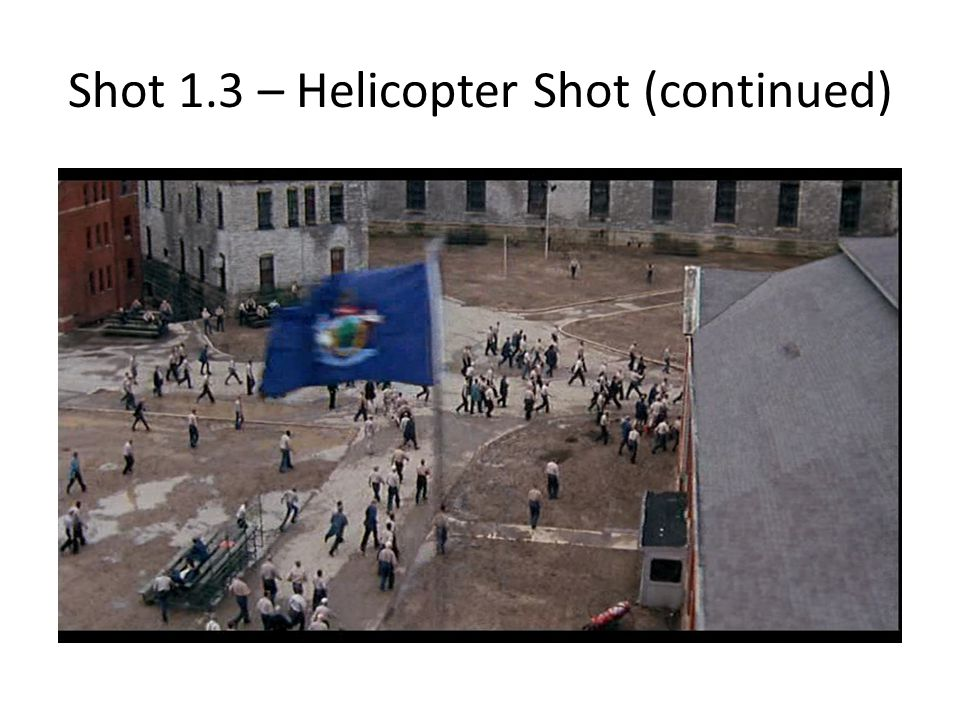 Shot 1.3 – Helicopter Shot (continued)