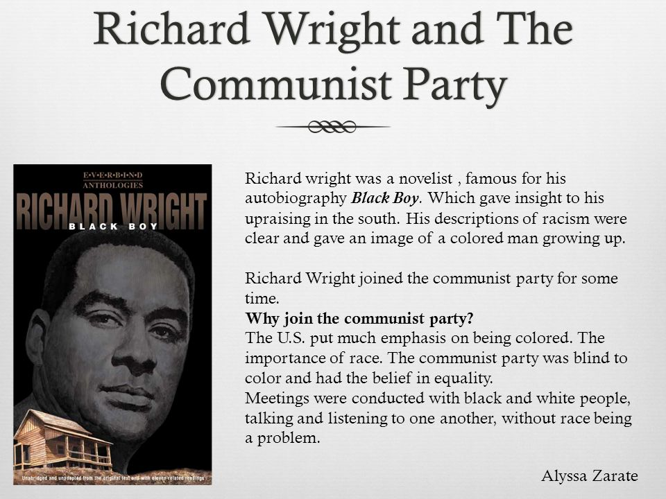 Richard Wright and The Communist Party