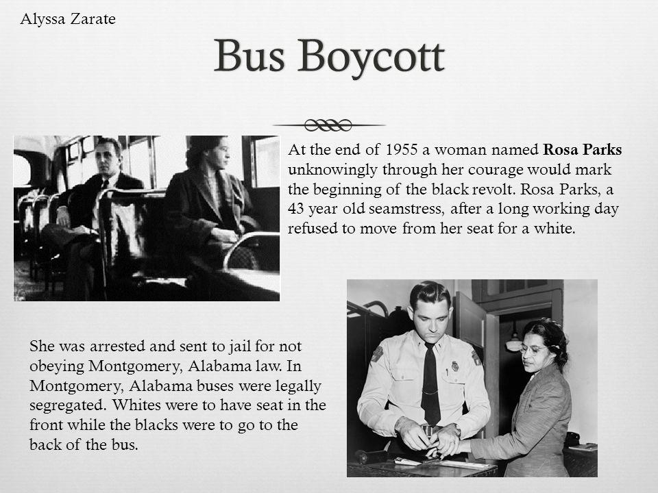 Bus Boycott Alyssa Zarate