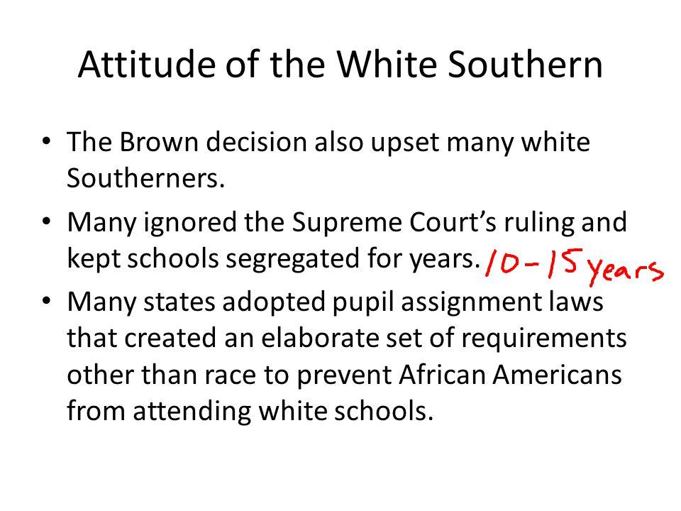 Attitude of the White Southern